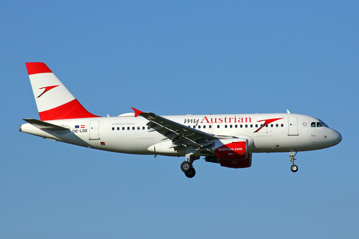 Austrian Airlines, OE-LDE, Airbus A319-112, msn: 2494,  Baku , 05.August 2020, ZRH Zürich, Switzerland.