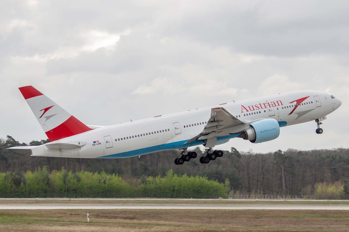 Austrian Airlines (OS-AUA), OE-LPB  Heart of Europe , Boeing, 777-279 ER, 06.04.2017, FRA-EDDF, Frankfurt, Germany