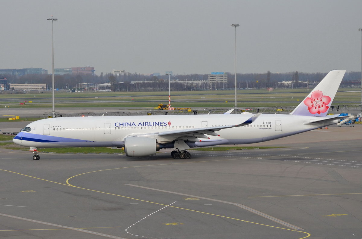 B-18905 China Airlines Airbus A350-941 , AMS , 11.03.2017