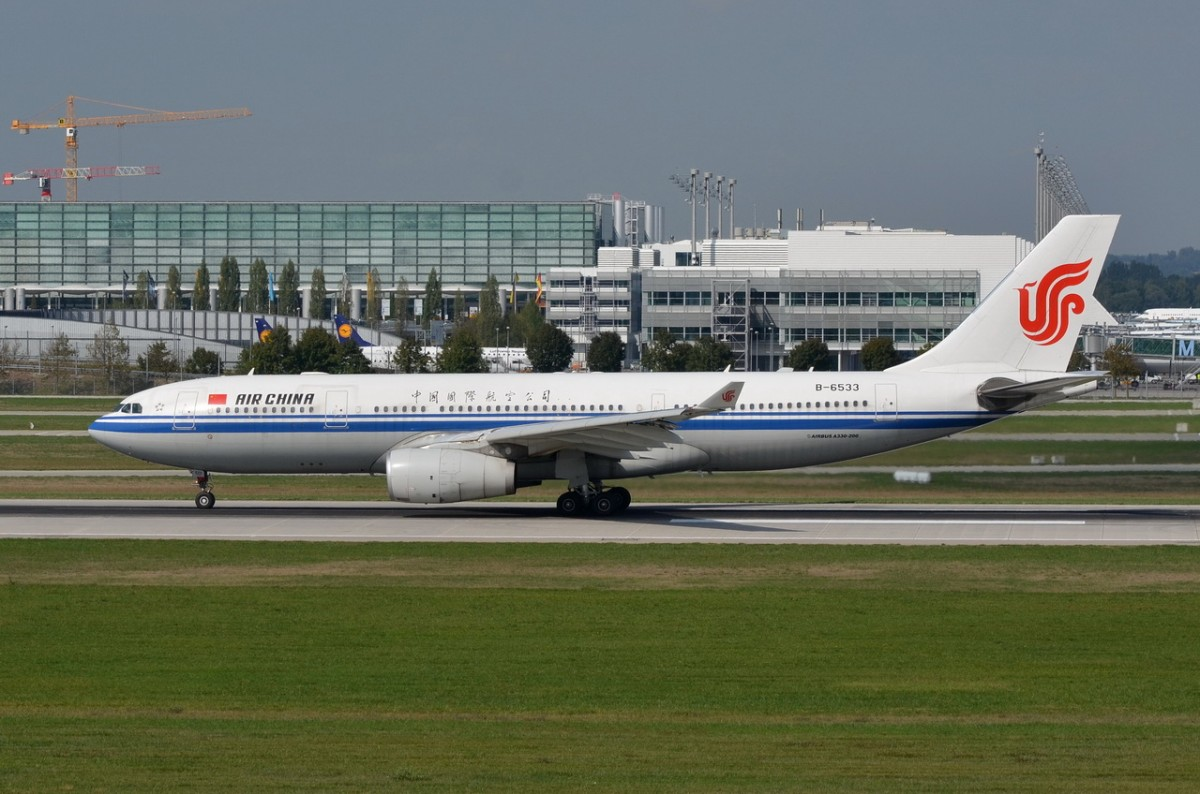 B-6533 Air China Airbus A330-243  gelandet am 11.09.2015 in München