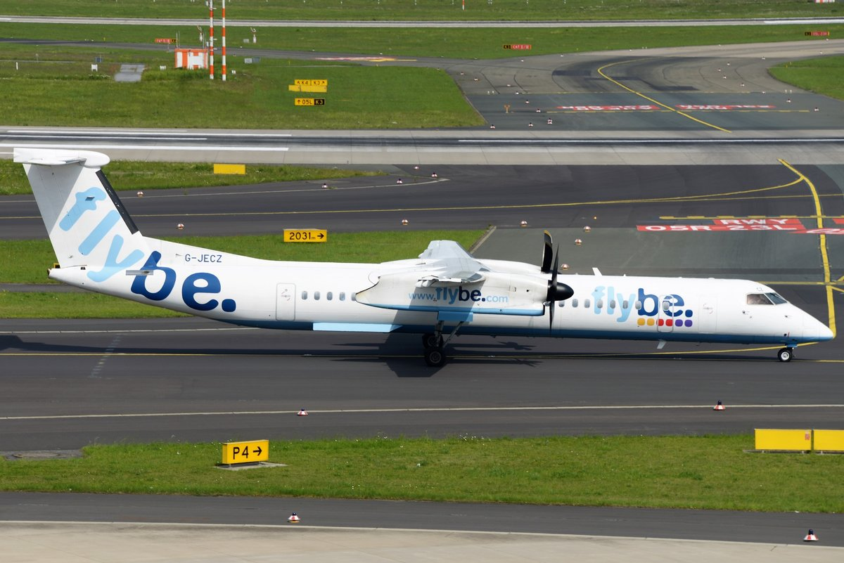 Bombardier DHC-8-402Q Dash 8 - BE BEE Flybe - 4179 - G-JECZ - 23.05.2017 - DUS
