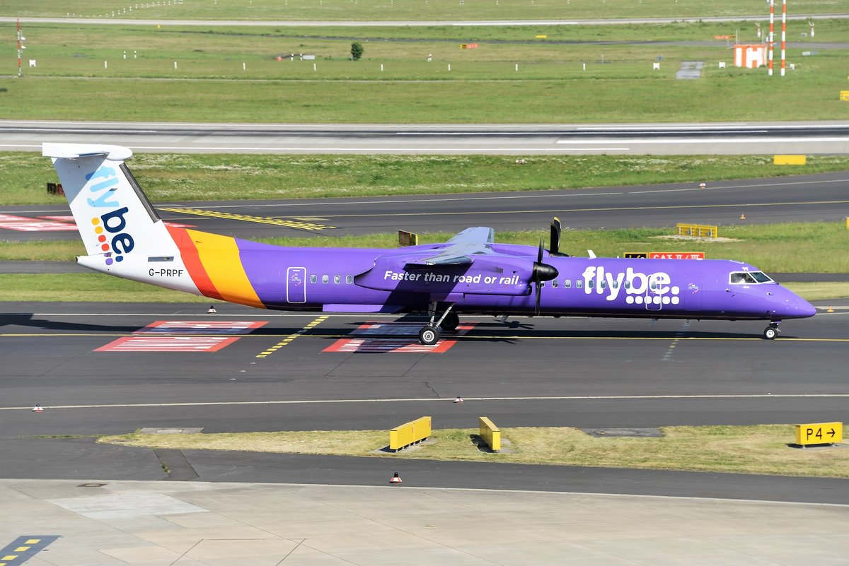 Bombardier DHC-9-402Q Dash 8 - BE BEE Flybe - 4195 - G-PRPF - 09.05.2018 - DUS