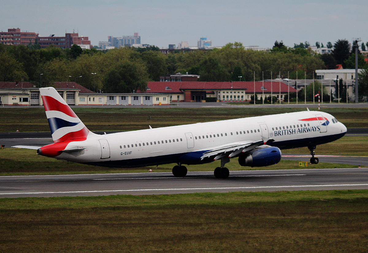 British Airways A 321-231 G-EUXF beim Start in Berlin-Tegel am 27.04.2014