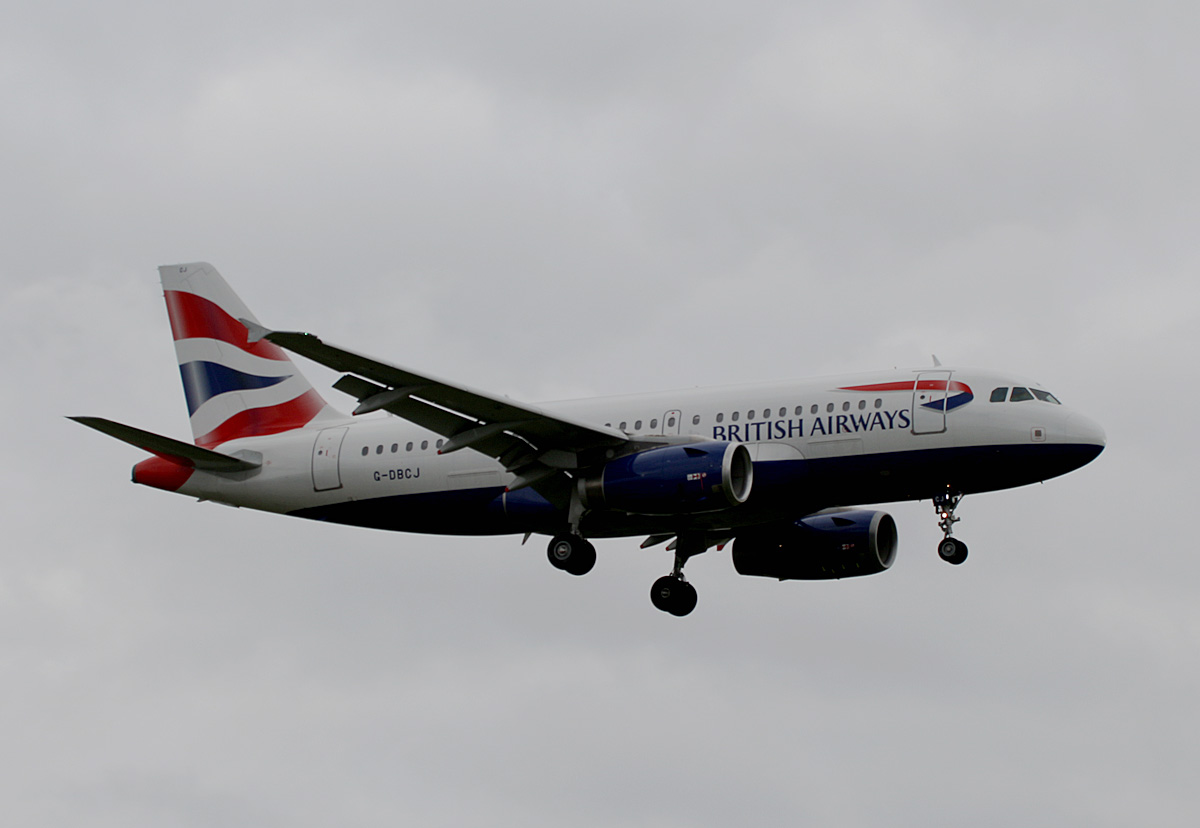 British Airways, Airbus A 319-131, G-DBCJ, TXL, 11.10.2020