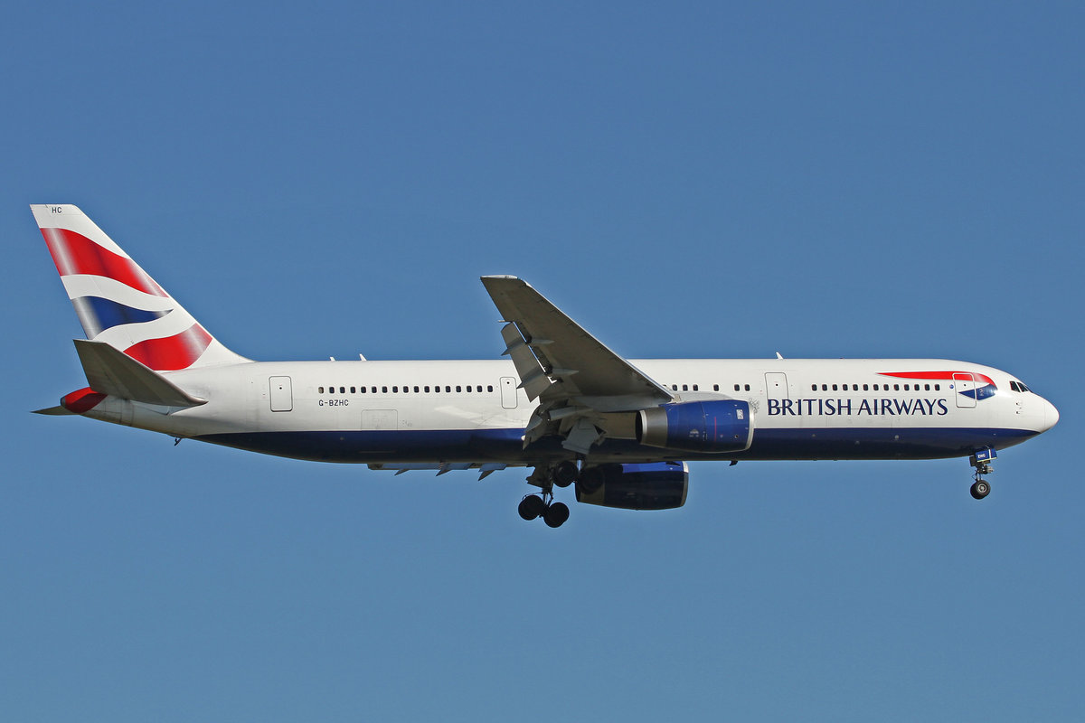 British Airways (BA-BAW), G-BZHC, Boeing, 767-336 ER, 24.08.2016, FRA-EDDF, Frankfurt, Germany