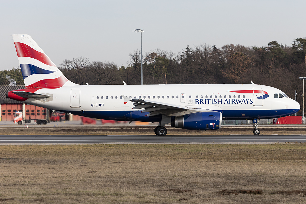 British Airways, G-EUPT, Airbus, A319-131, 13.02.2019, FRA, Frankfurt, Germany