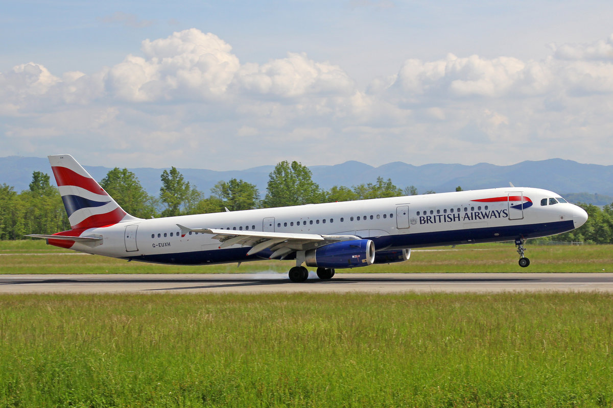 British Airways, G-EUXH, Airbus A321-231, 18.Mai 2016, BSL Basel, Switzerland.