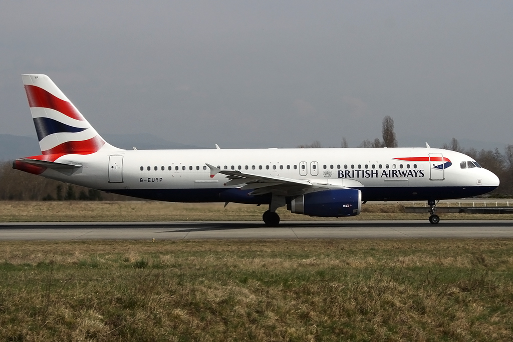 British Airways, G-EUYP, Airbus, A320-232, 24.03.2015, BSL, Basel, Switzerland