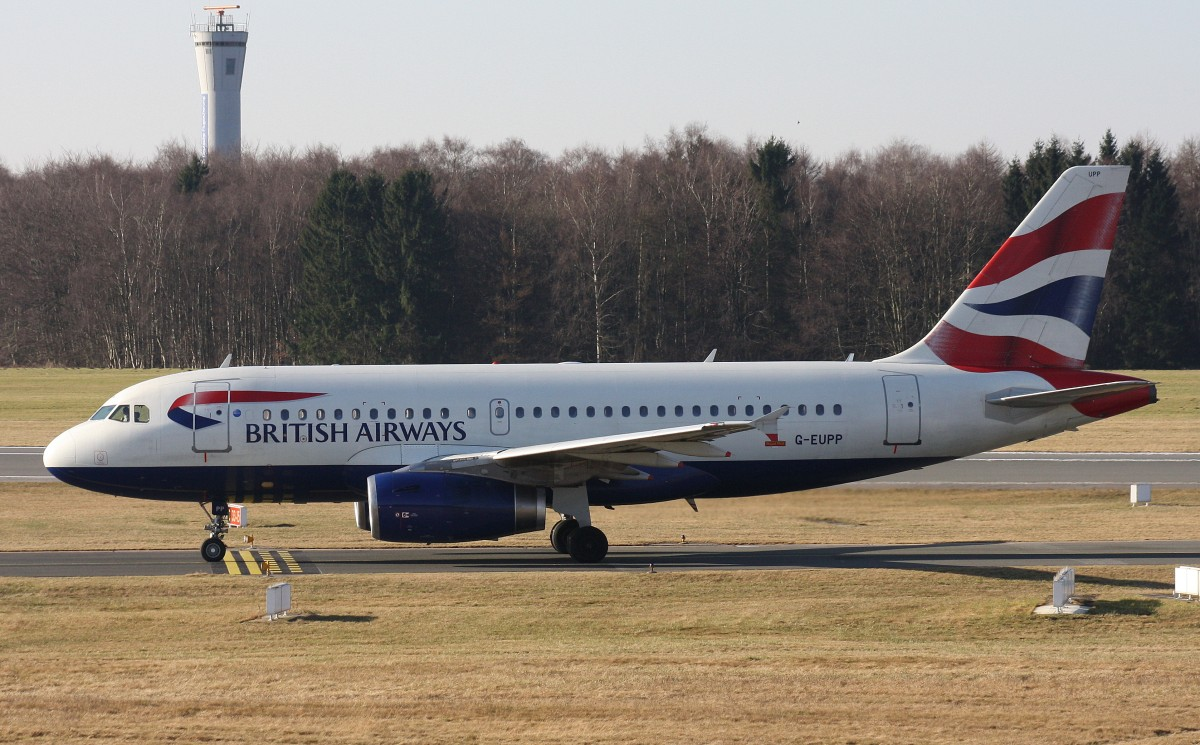 British Airways,G-EUPP,(c/n1295),Airbus A319-131,23.02.2014,HAM-EDDH,Hamburg,Germany