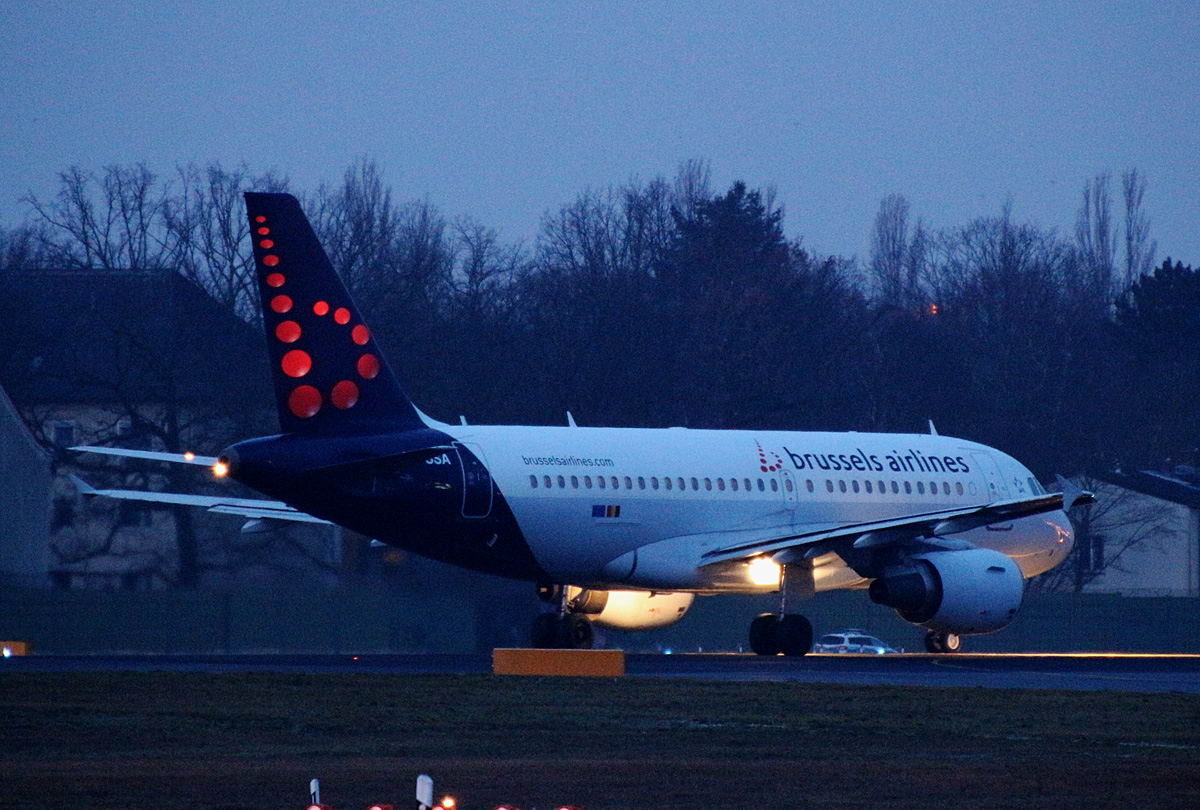 Brussels Airlines, Airbus A 319-111, OO-SSA, TXL, 15.02.2020