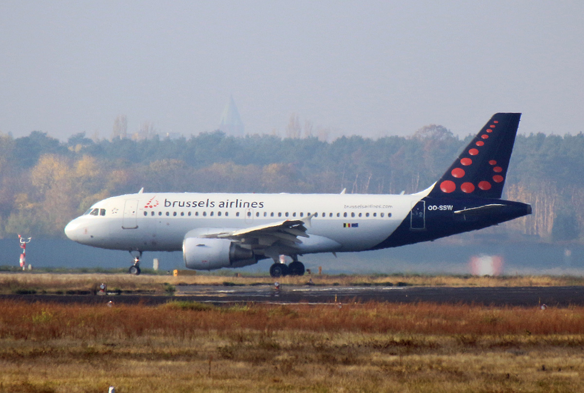 Brussels Airlines, Airbus A 319-111, OO-SSW, TXL, 07.11.2020
