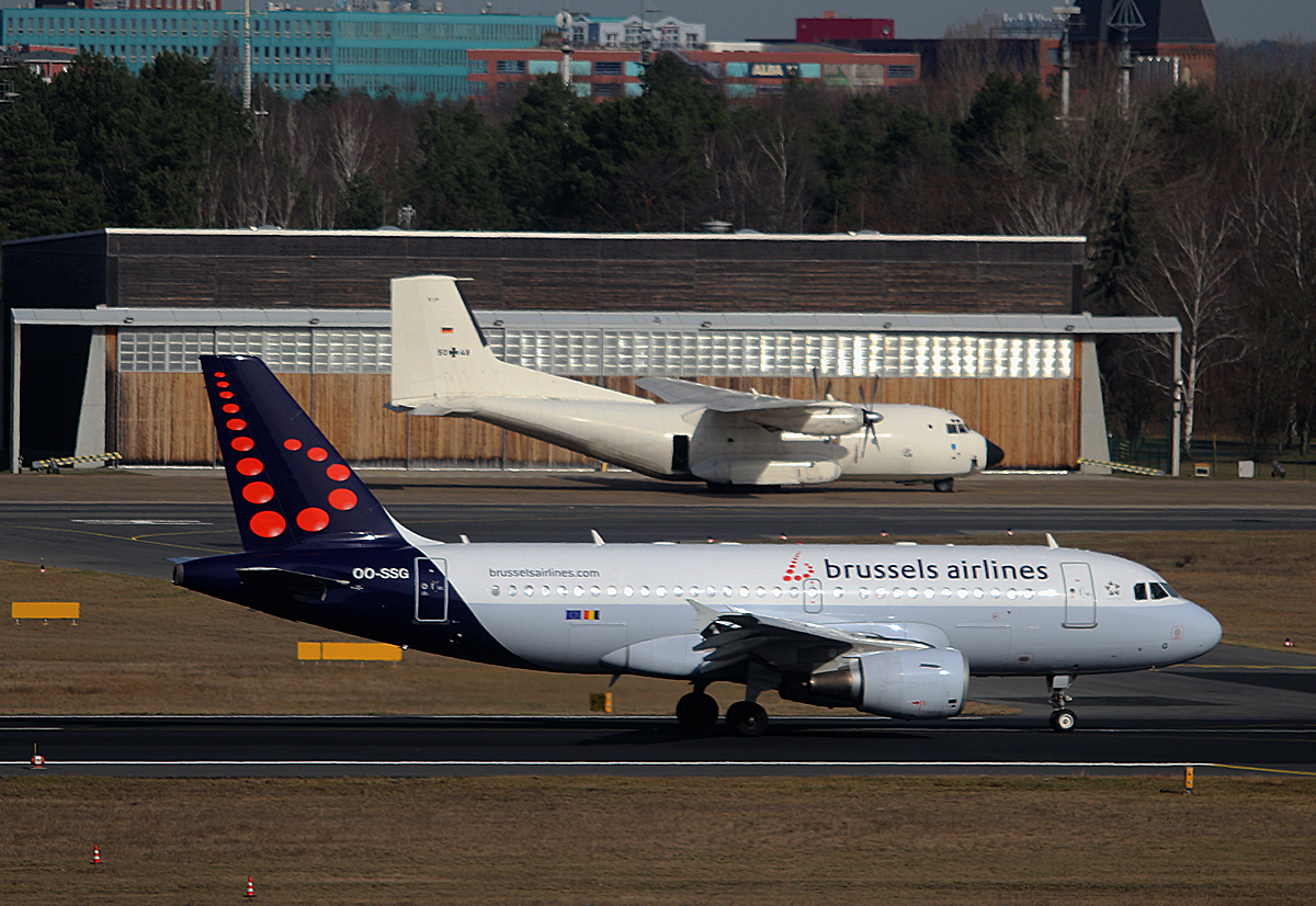 Brussels Airlines, Airbus A 319-112, OO-SSG, Germany Air Force, C-160D, 50+48, TXL, 04.03.2017