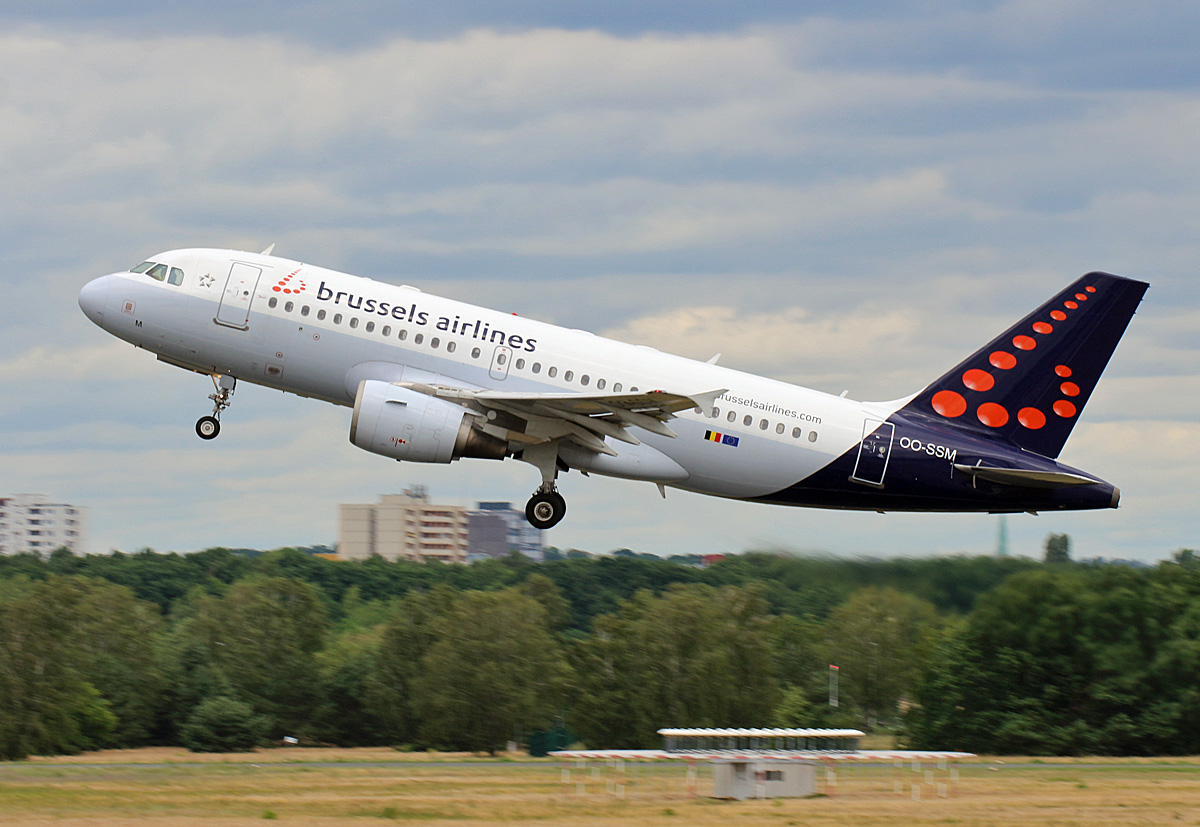 Brussels Airlines, Airbus A 319-112, OO-SSM, TXL, 05.07.2020