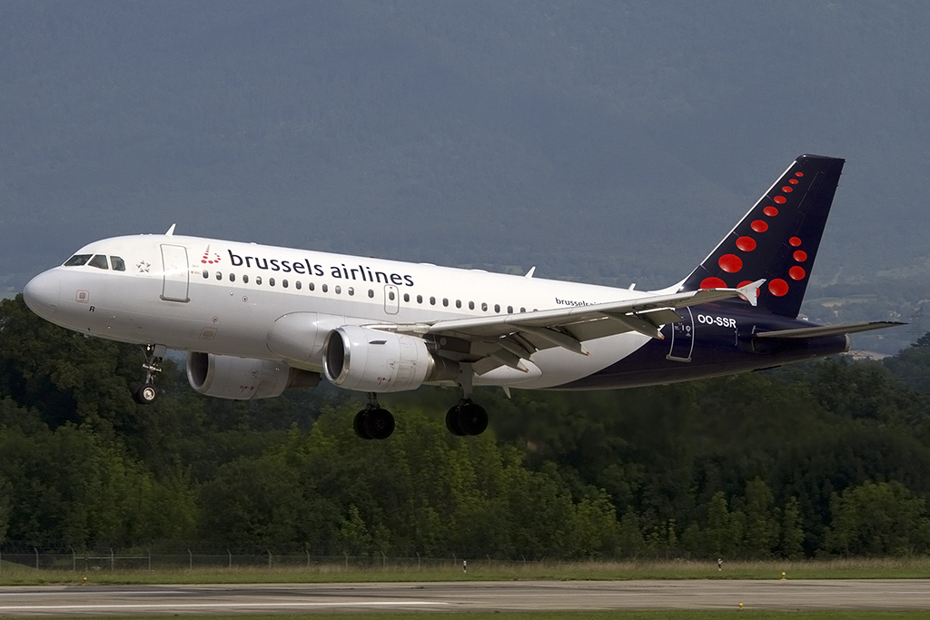 Brussels Airlines, OO-SSR, Airbus, A319-112, 10.08.2014, GVA, Geneve, Switzerland