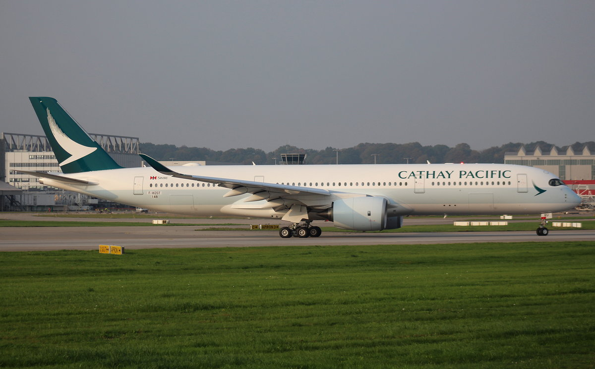 Cathay Pacific Airways, F-WZGT, Reg. B-LRU, MSN 0148, Airbus A 350-941,29.09.2017, XFW-EDHI, Hamburg-Finkenwerder, Germany