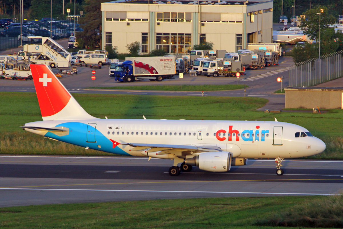 Chair Airlines, HB-JOJ, Airbus A319-112, msn: 3024, 25.Juni 2019, ZRH Zürich, Switzerland.