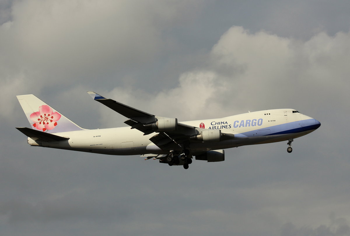 China Airlines Cargo,B-18708,(c/n 30765),Boeing 747-409F,09.10.2016, FRA-EDDF, Frankfurt, Germany
