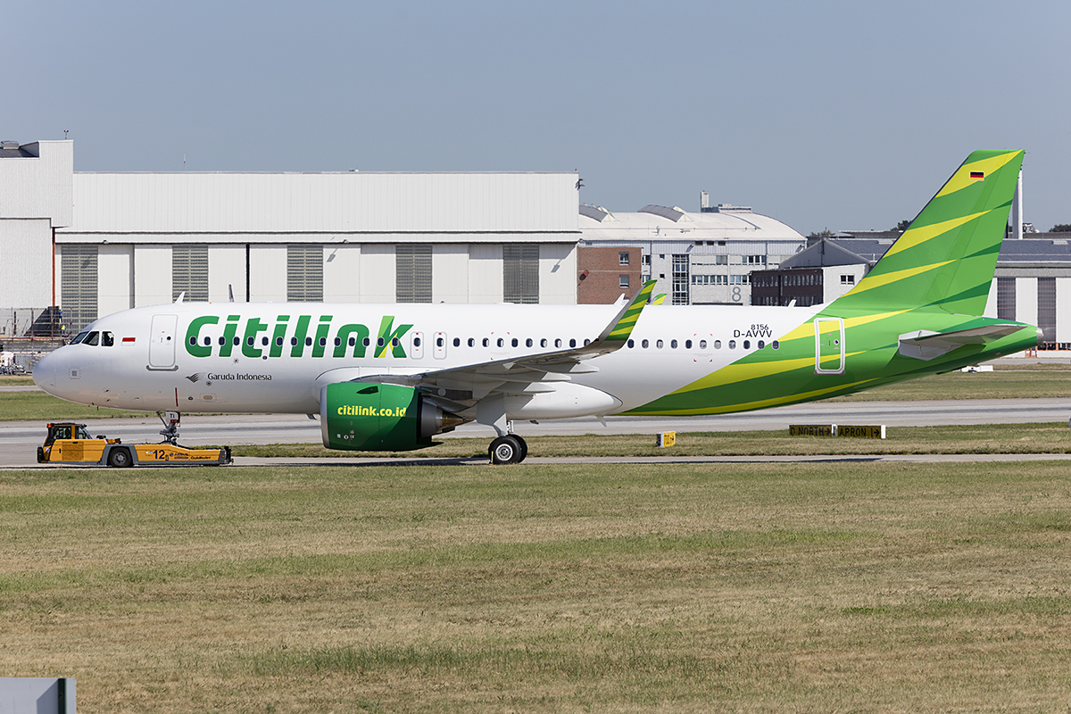 Citilink, D-AVVV (later Reg.: PK-GTH ), Airbus, A320-251N, 22.08.2018, XFW, Finkenwerder, Germany