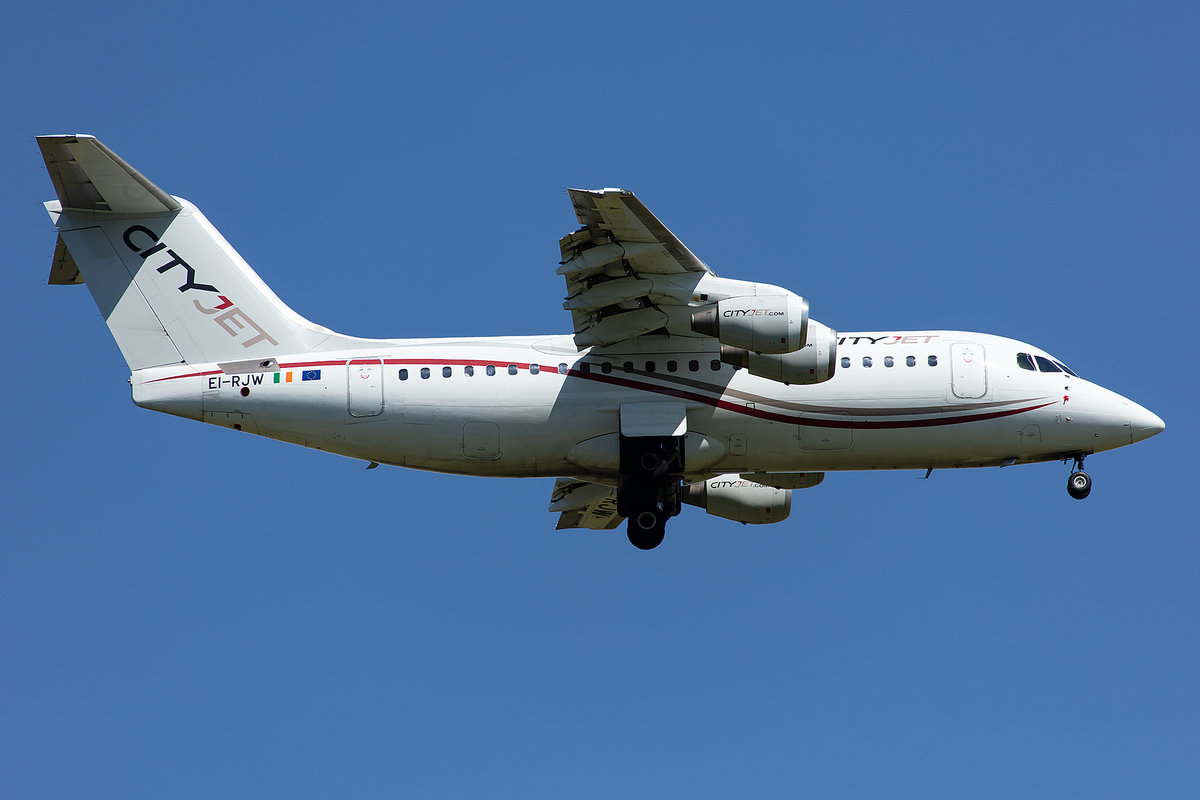 City Jet, EI-RJW, Avro, RJ-85, 14.05.2019, CDG, Paris, France