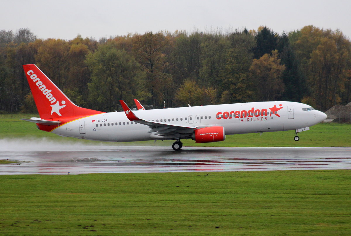 Corendon Air, TC-COR, MSN 42058, Boeing 737-8SH(WL), 05.11.2017, HAM-EDDH, Hamburg, Germany