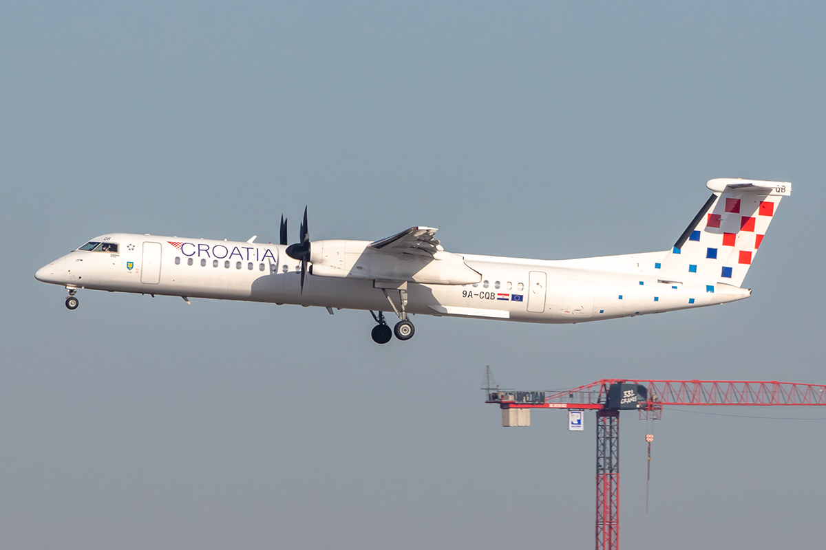 Croatia Airlines, 9A-CQB, deHavilland, DHC-8-402Q, 21.02.2021, FRA, Frankfurt, Germany