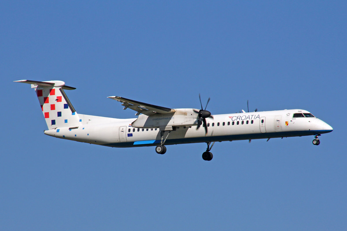 Croatia Airlines, 9A-CQE, Bombardier DHC 8-402, 29.September 2016, ZRH Zürich, Switzerland.