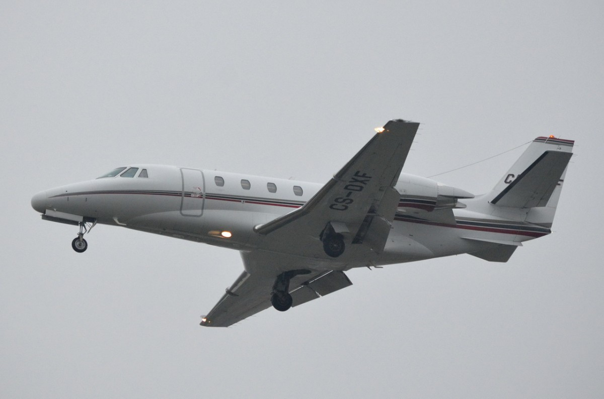 CS-DXF NetJets Europe Cessna 560XL Citation Excel   Anflug Tegel am 13.11.2014