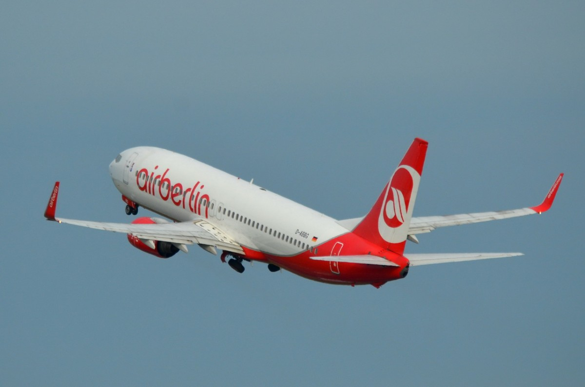 D-ABBG Air Berlin Boeing 737-86J (WL)    gestartet am 21.08.2014 in Tegel