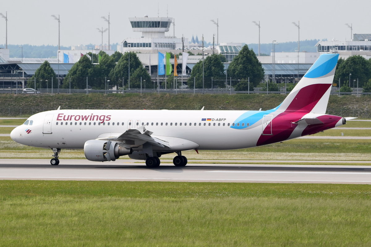 D-ABFP Eurowings Airbus A320-214  , MUC  02.06.2017