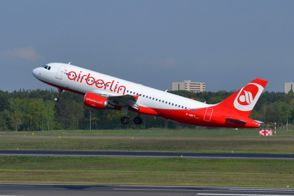 D-ABFT Air Berlin Airbus A320-214   gestartet in Tegel 23.04.2014
