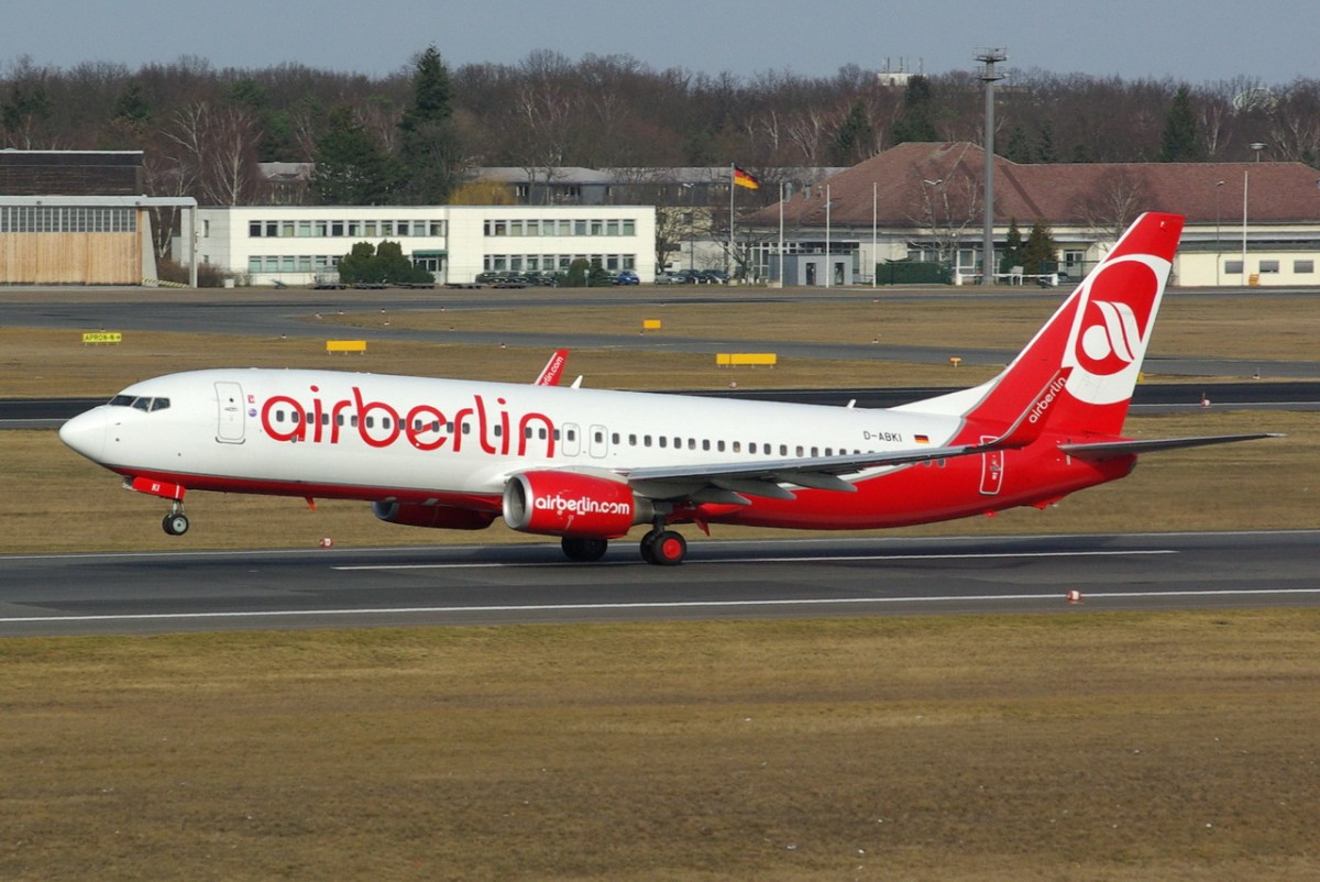 D-ABKI Air Berlin Boeing 737-86J(WL)    17.02.2014   Berlin-Tegel