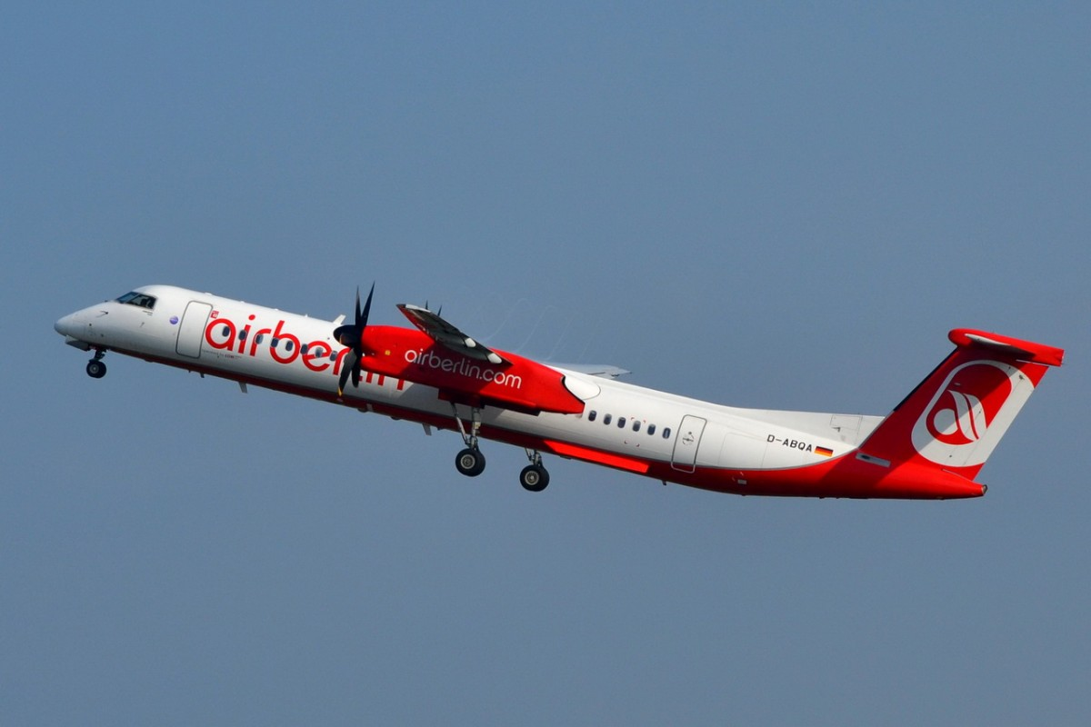 D-ABQA Air Berlin De Havilland Canada DHC-8-402Q Dash 8   gestartet in Tegel 23.04.2014
