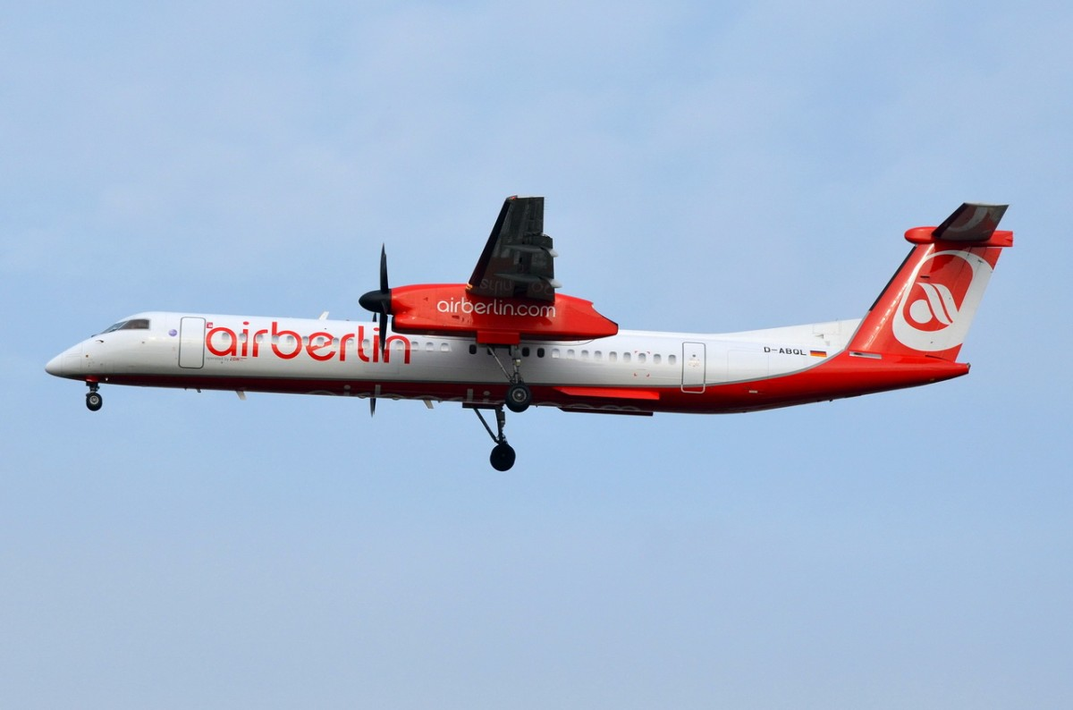 D-ABQL Air Berlin De Havilland Canada DHC-8-402Q Dash 8  am 05.11.2014 Anflug auf Tegel