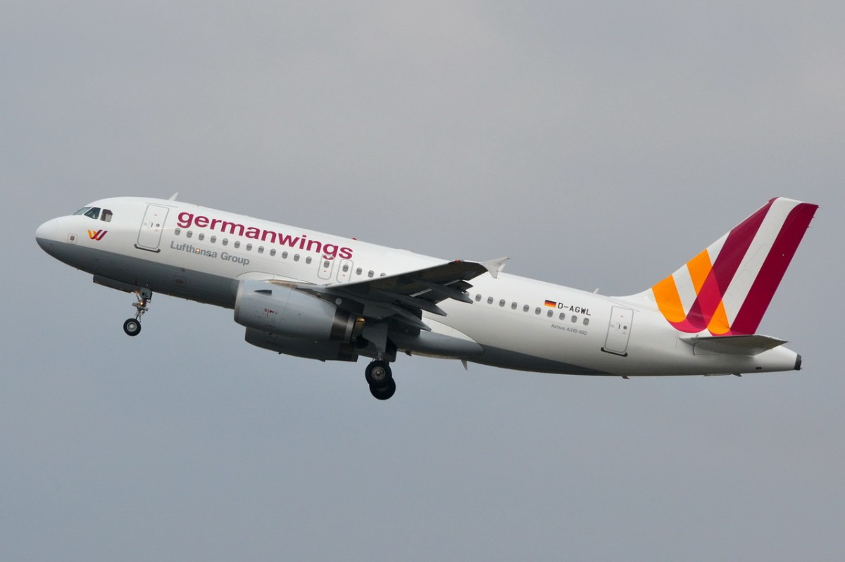 D-AGWL Germanwings Airbus A319-132  24.03.2014 gestartet in Tegel
