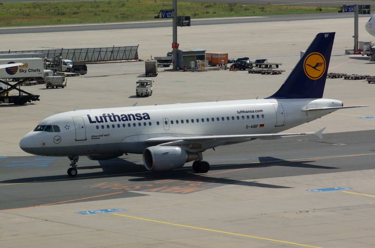 D-AIBF Lufthansa Airbus A319-112   zum Start in Frankfurt am 15.07.2014