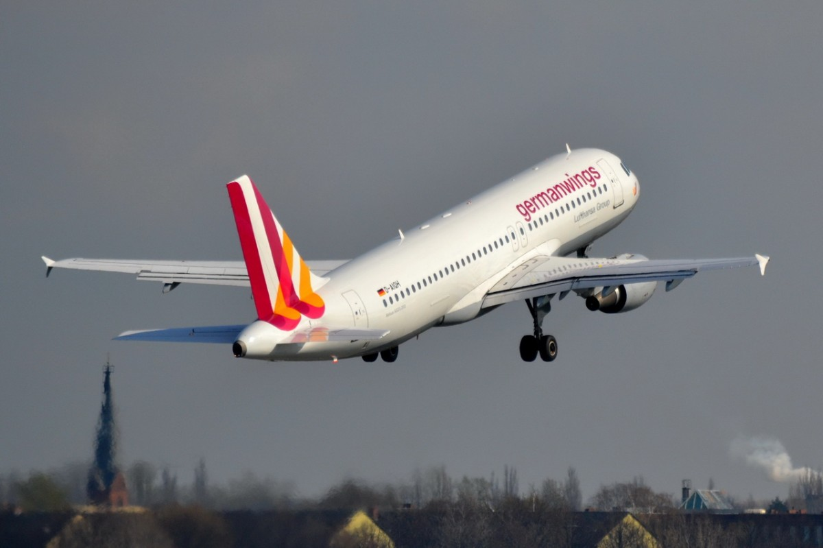 D-AIQH Germanwings Airbus A320-211   gestarte in Tegel am 26.03.2014