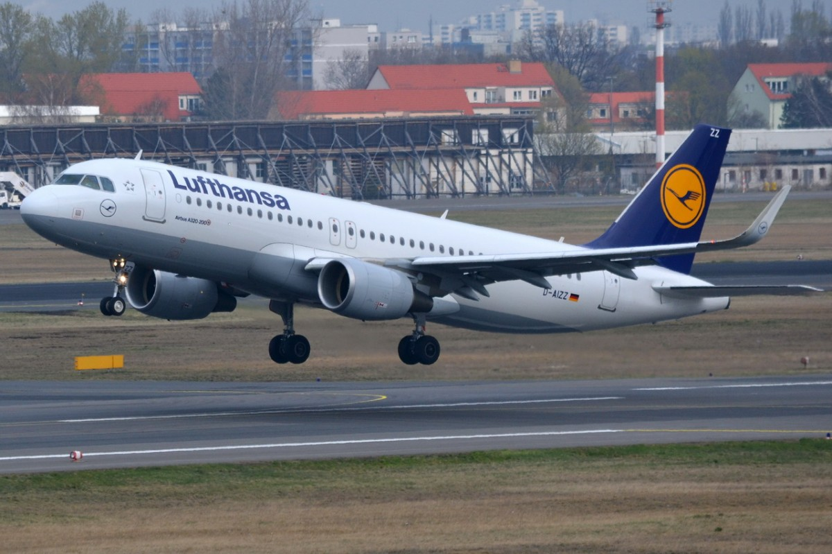 D-AIZZ Lufthansa Airbus A320-214 (WL)    Start in Tegel 24.03.2014