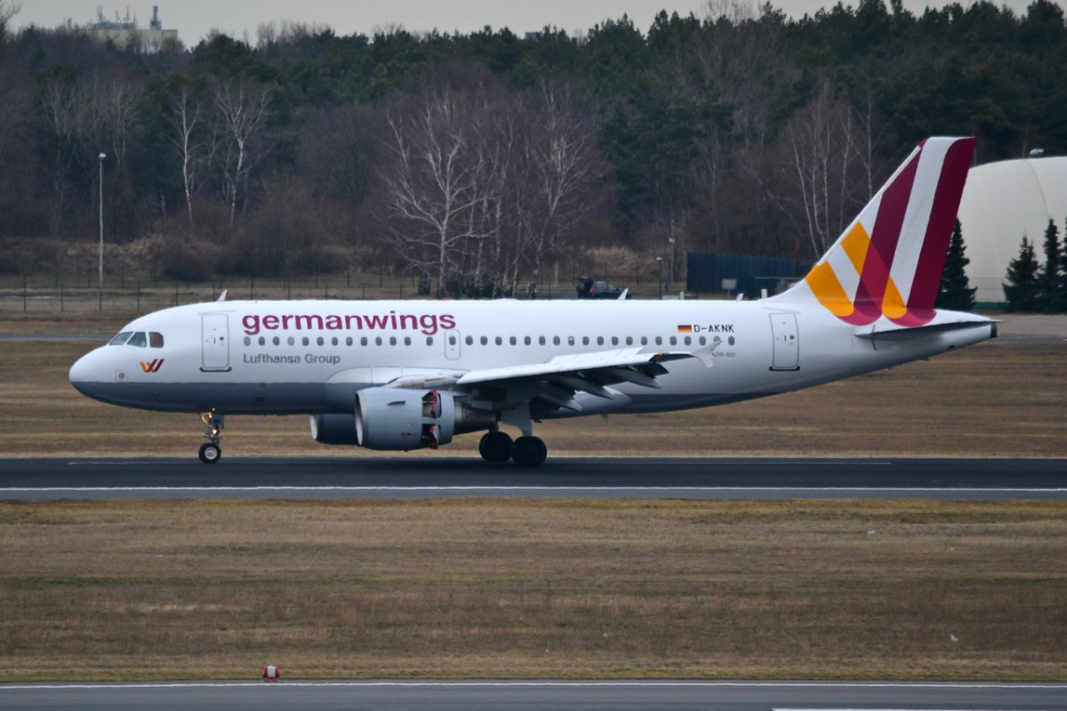 D-AKNK Germanwings Airbus A319-112    18.02.2014   Berlin-Tegel