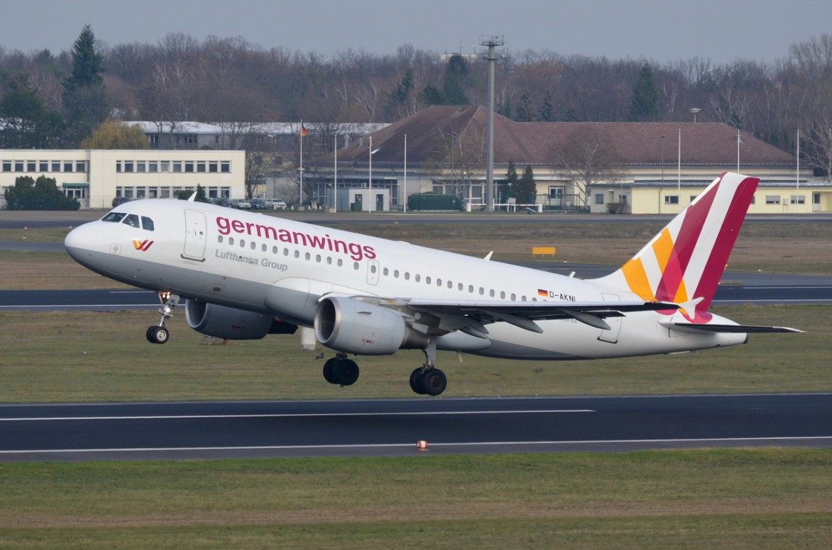 D-AKNL Germanwings Airbus A319-112   gestartet am 24.11.2015 in Tegel