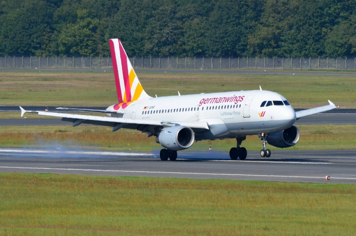D-AKNP Germanwings Airbus A319-112    gelandet am 04.09.2014 in Tegel