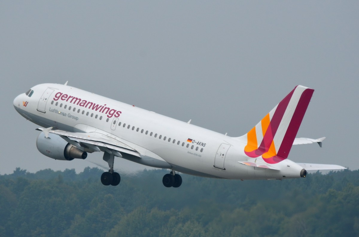 D-AKNS Germanwings Airbus A319-112   in Tegel am 30.07.2014 gestartet