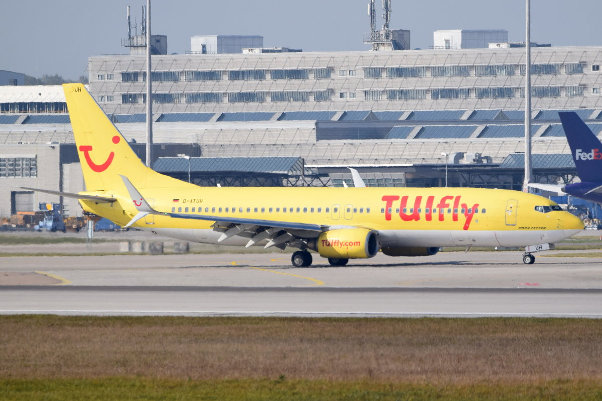 D-ATUH TUIfly Boeing 737-8K5(WL)  , MUC , 16.10.2016
