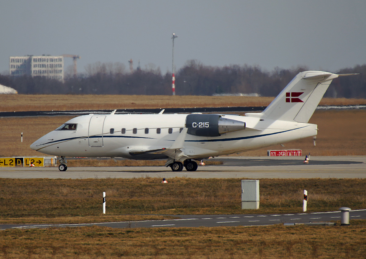 Denmark Air Force, Challenger 604, C-215, BER, 10.03.2021