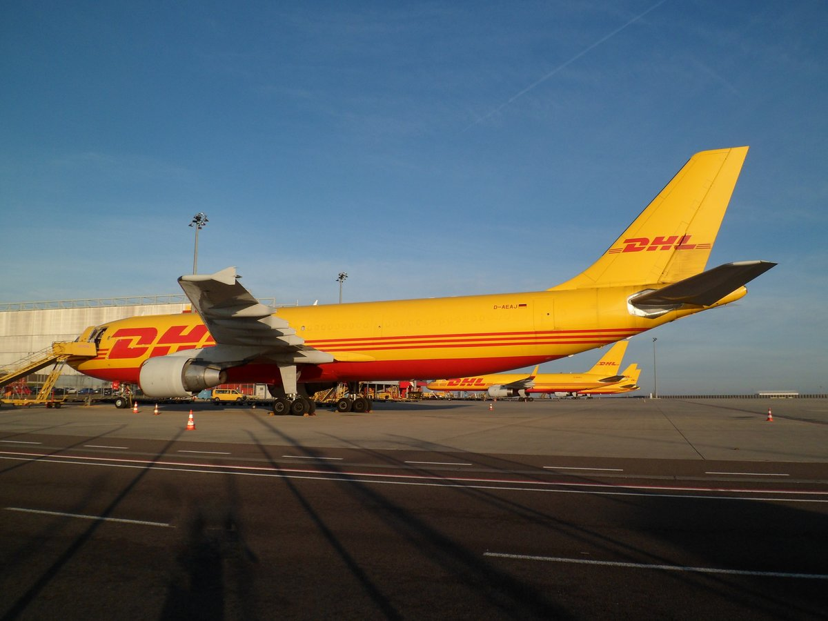 DHL Air - European Air Transport, Airbus A300-600RF D-AEAJ @ Leipzig/Halle (LEJ) / 12.Jan.2020
