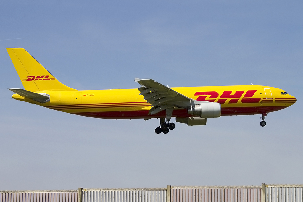 dhl d aeai airbus a300b4 622r f bru br ssel belgium flugzeug. Black Bedroom Furniture Sets. Home Design Ideas