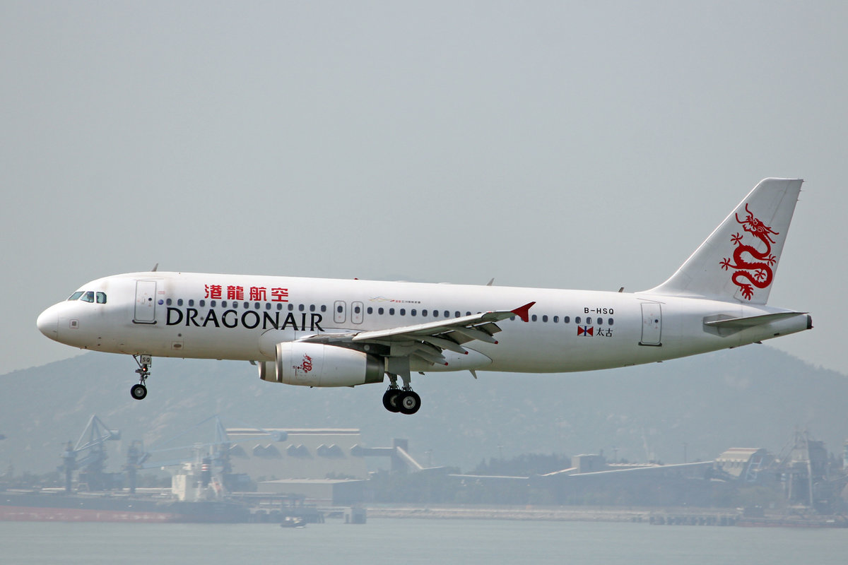 Dragonair, B-HSQ, Airbus A320-232, msn: 5024, 18.April 2014, HKG Hong Kong.