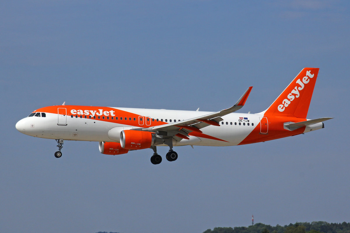 easyJet Europe, OE-IJW, Airbus A320-214, msn: 7580, 01.August 2018, ZRH Zürich, Switzerland.