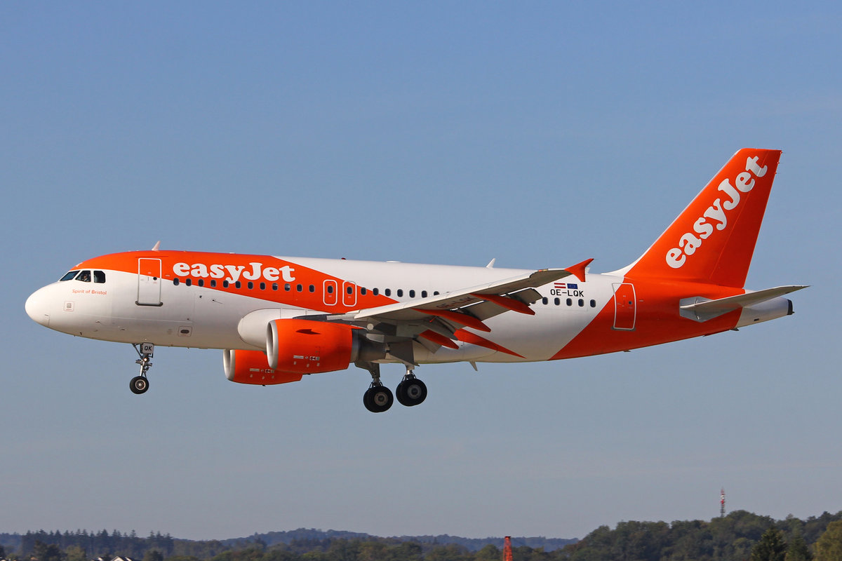 easyJet Europe, OE-LQK, Airbus A319-111, msn: 3888,  Spirit of Bristol , 26.September 2018, ZRH Zürich, Switzerland.