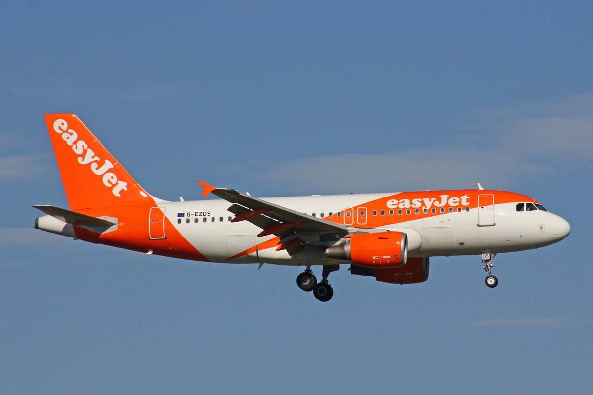 EasyJet, G-EZDS, Airbus A319-111, 29.September 2016, ZRH Zürich, Switzerland.
