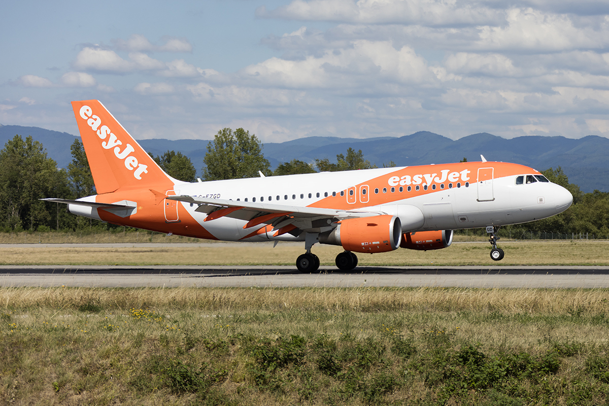 EasyJet, G-EZGD, Airbus, A319-111, 17.07.2017, BSL, Basel, Switzerland